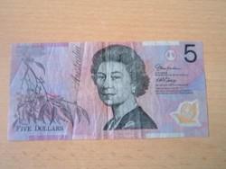 AUSZTRÁLIA 5 DOLLÁR ND 1995- POLYMER FORGALMI