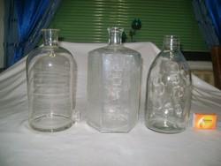 Régi patika üveg - három darab
