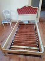 Gyönyörű olasz Velencei stílusú ágy ágykeret matraccal és ágyráccsal