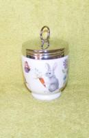 Angol Royal Worcester húsvéti, nyuszi fűszertartó, tojásfőző porcelán