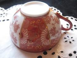 Japán , lehelet finom ,  tojáshéj porcelán  csésze  ,50x48 mm kézi festésű fényre fordítva átlátszó