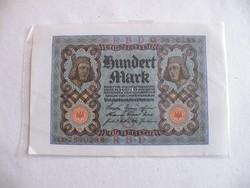 KK284 1920 100 Márka Mark szép fóliázott bankjegy