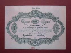 Almássy 1000 gulden forint 1849 formular MÁSOLAT