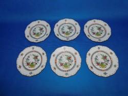 Herendi Indiai mintás 6sz sütis tányér garnitúra