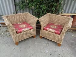 Eredeti Baliról származó kézzel fonott fotelek párban
