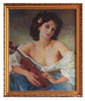 Szánthó Mária Hölgy hegedűvel
