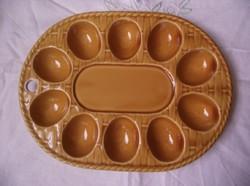 Kerámia tojástartó tál,kosár mintás tálca