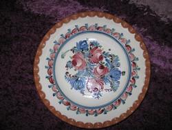 Bálintné kerámia tányér, HMVH, 30 cm, 81.