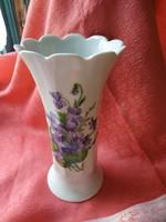 Gyönyörű ibolya mintás porcelán váza