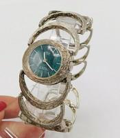 Ezüst női óra lapis lazulival 925-ös ezüst