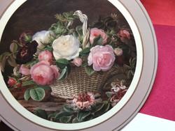 Rózsás tányéralátét szett