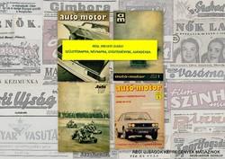 1981 április 7  /  autó-motor  /  SZÜLETÉSNAPRA RÉGI EREDETI ÚJSÁG Szs.:  3547