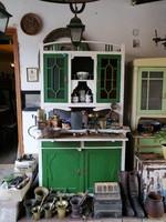 Szecessziós festett konyhakredenc eladó