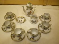 Herendi Viktória mintás porcelán kávéskészlet kávés készlet