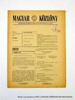 1978 szeptember 5  /  MAGYAR KÖZLÖNY  /  Régi ÚJSÁGOK KÉPREGÉNYEK MAGAZINOK Szs.:  9019