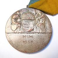 MUHI 1935. érem,Sződy,Sz.R.