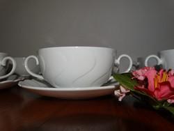 Seltmann hófehér leveses csészék