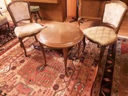 Barokk Asztal kettő Székkel!