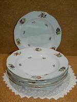 Herendi virágos 6 személyes mély tányér készlet.