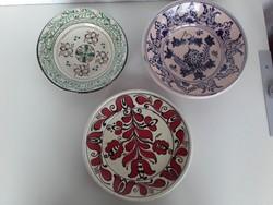 Korondi kerámia tányérok 3 db