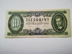 1975-ös 10 Forint UNC NYOMDAI PAPÍRRÁNC RR!