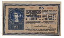 25 korona 1918 hullámos hátlap 2.