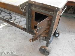 Retro Loft vas kályha ipari sparhelt Grillező tűzhely industrial szegecselt  vintage