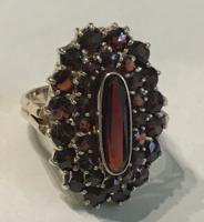 Gránátos arany gyűrű ( 8 K )
