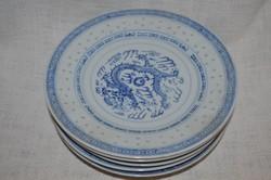 6 db kínai rizsmintás lapos tányér  ( DBZ 00113 )