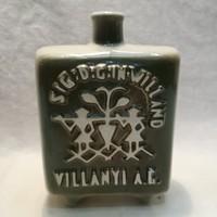 Zsolnay porcelán palack , flaska , Borban az igazság felirattal