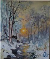 Volkov Mihail - Téli este c. festménye