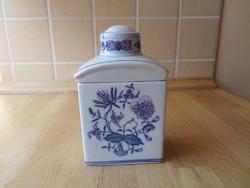 Hagymamintás porcelán teafű tartó tárolóedény