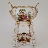 Antik KPM Kézzel Festett Parfümégő 1870