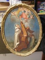 Szentet ábrázoló jelenet a XIX. sz.-ból