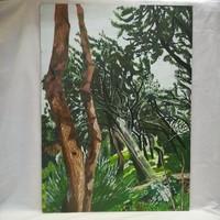 Olajfaliget , jelzett olaj-farost festmény