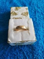 1,-Ft Tömör gyönyörű 375 gyémánt arany gyűrű!