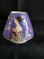 """Goebel porcelán váza """"Hölgy legyezővel"""" Gustav Klimt, új, hibátlan"""