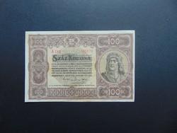 100 korona 1920 A 010 Szép ropogós bankjegy !!!