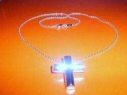 Kereszt Uniszex 925 ezüst -fehérarany Nyaklánc