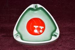 Budapest porcelán reklám TOTÓ hamutál  ( DBZ 00111 )