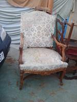 Antik, massziv fotel