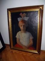 Basch Edit/1895-1980/ Kislány portré