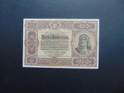 100 korona 1920 A 006 Szép ropogós bankjegy !!!