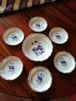 Zsolnay (Íris) porcelán búzavirág mintás bonbon készlet