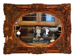 Dekoratív, díszes keretes nagy tükör