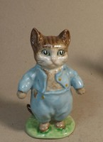 Tom Kitten porcelán figura