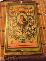 Gyönyörű antik orosz ikon