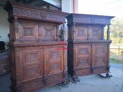 Gyönyörű antik, reneszánsz stílusú kabinetszekrények!