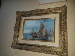 Karl Kaufmann 1843-1901 (Velencei kikötő) -Leárazva-