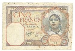 5 francs 1941 Algéria